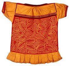 made by the Kuna peaple of Panama / etnic dress / costumes / dress