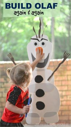 Do you want to build a snowman? This easy to make toy allows kids to build Olaf over & over again. Stick & re-stick for endless fun!