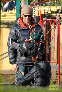 Jared Padalecki & Genevieve Cortese: Park Playtime with Thomas