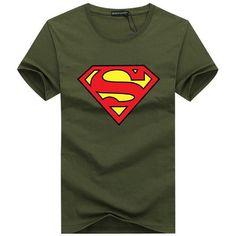 Free Shipping New 2016 Fashion Brand T Shirts for Men Flash Superman Printing Male O Neck Hip Hop T Shirts Men's Clothing S-5XL