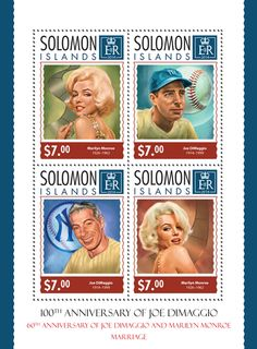 SLM 14311 a	The 60th anniversary of Joe DiMaggio and Marilyn Monroe's marriage (Marilyn Monroe (1926-1962), Joe DiMaggio (1914-1999))
