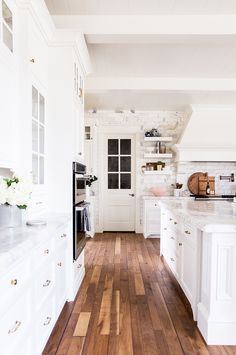 Rachel Parcell of Pink Peonies gives us a tour of her airy custom-designed French country–style kitchen.