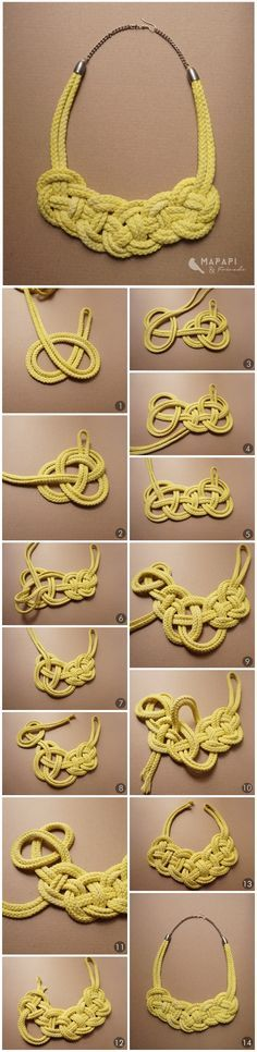 """DIY Seil Kette Knotted Necklace <a href=""""http://mapapi-and-friends.blogspot.co.at/"""" rel=""""nofollow"""" target=""""_blank"""">mapapi-and-friend...</a>"""