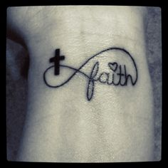 #cutetattoos #girl #like #want #love #tattoos #god #cross #forever #believer