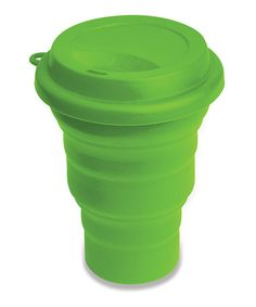 Another great find on #zulily! Green 16-Oz. Collapsible Silicone Mug #zulilyfinds