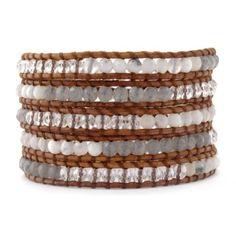 Chan-Luu-White-Opal-Mix-Wrap-Bracelet-on-Natural-Brown-Leather