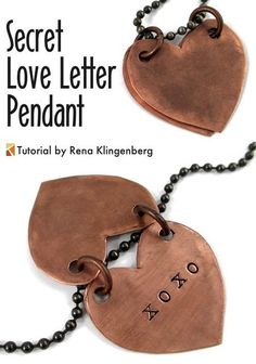Secret Love Letter Pendant - tutorial by Rena Klingenberg ~ shared at Brag About It Link Party on VMG206 (Monday's at Midnight). #BragAboutIt