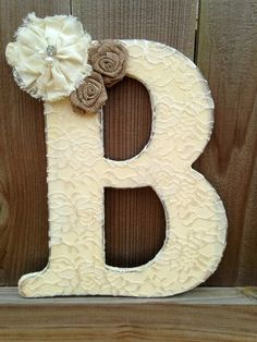 """12"""" Lace letter for wedding, shower or nursery on Etsy, $26.00"""
