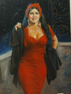 artist Sameh - egypt Egyptian Women, Egyptian Art, Nostalgic Art, Arabian Art, Gypsy Women, Arab Girls, Turkish Art, Madame, Islamic Art