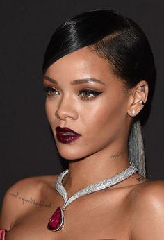 Rihanna Ponytail. Love the make-up
