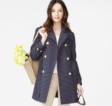 Dotted Square Jacquard Trench