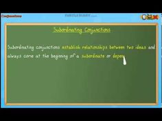 Subordinating Conjunctions - Grammar Lesson for Grade 3 - YouTube