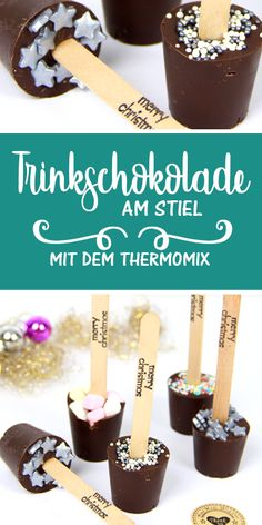 Trinkschokolade am Stiel This drinking chocolate on a stick is not only delicious, but also a really great gift idea for all Schokaholiks. Blackberry Syrup, Cinnamon Cream Cheese Frosting, Pumpkin Spice Cupcakes, Few Ingredients, Chocolate Lovers, Winter Food, Christmas Treats, Clean Eating Snacks, Diy Food