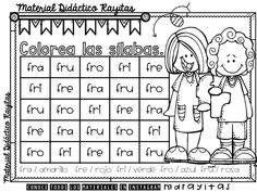 Descubro las sílabas simples y trabadas | Material Educativo Literacy Worksheets, Phonics Activities, Reading Activities, Speech Language Therapy, Speech And Language, Speech Therapy, Dual Language, Math For Kids, Sight Words