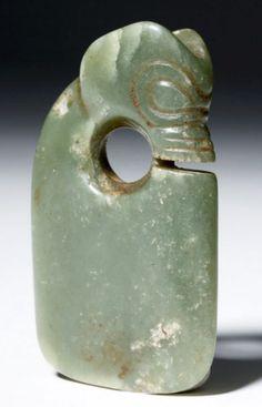 Hongshan Pig Dragon rectangular pendant