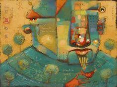 "Daily Paintworks - ""His Grass Is Greener"" - Original Fine Art for Sale - © Brenda York"