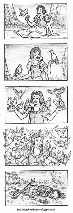 Snow White + The Birds ~ This really made me LMAO!!!