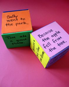 Mix-and-Match Grammar Dice - makes a learning about independent and dependent clauses a fun game!