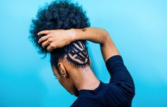How to achieve an afro puff even with short hair. Afro Puff Hairstyle Step by Step