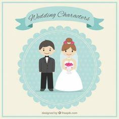 Cute wedding characters