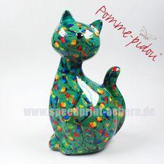 Pomme Pidou Katze Caramel grün Vögelchen