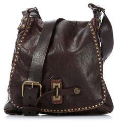 Lavata Shoulder Bag Leather dark-brown 29 cm