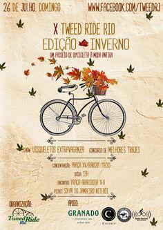 Cartaz lindo da X Edição do Tweed Ride Rio! https://www.facebook.com/tweedrj