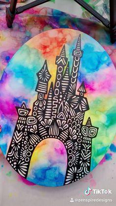 Doodle Art Drawing, Mandala Drawing, Cool Art Drawings, Art Drawings Sketches, Disney Kunst, Disney Art, Dibujos Zentangle Art, Mandala Design, Mandala Art Lesson