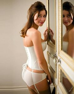 Gorgeous Bridal Lingerie.she is strapped all right.