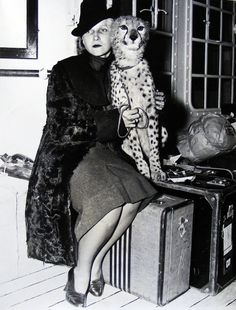 Countess Elvira de Flogny, 1939, with her leopard-Countess Sylvia de Flogny caused a memorial of black Finnish granite to be erected over the grave of her father, Abram Anderson. The Finnish sculptor, Kalervo Kallio, designed the monument and accompanied his work to Arthyde to see it put up. You can find some pretty darned exotic but domesticated animals on Pedegru. Enter your own pet and create a permanent of him or her for generations to enjoy. www.pedegru.com