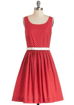 Love is in the Flair Dress. Theres a whole lot to love about the way you look in this cherry-red cotton dress - a ModCloth exclusive by Bea and Dot. #redNaN