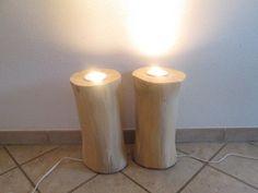 Nr.152, Deckenfluter Set,  21cm x 21cm x 43cm, Baumstamm Set, Stehlampe