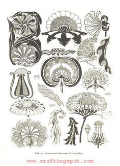 art nouveau floral motifs