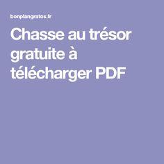 Chasse au trésor gratuite à télécharger PDF