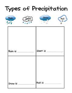 Fun in First Grade: Precipitation