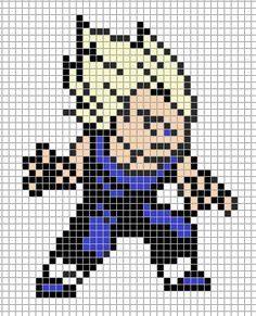 Resultat De Recherche D Images Pour Pixel Art Dragon Ball Z Facile