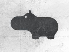 Not sure why I like hippos so much, maybe just because it is so much fun to say... Hippo logo design by Gert van Duinen