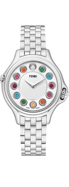 Fendi Crazy Carats white dial watch