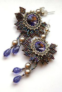 Beaded Earrings  #beadwork