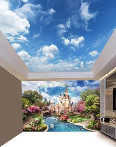 Skylight Discover Sunny Clear Sky Ceiling Sticker Ceiling decor Sun Heavens Brightly Photo Paper Ceiling Mural Self Adhesive Exclusive Design Photo Wallpaper Sky Ceiling, Ceiling Murals, Floor Murals, 3d Wall Murals, Ceiling Decor, Ceiling Design, Kids Wallpaper, Photo Wallpaper, Wall Wallpaper