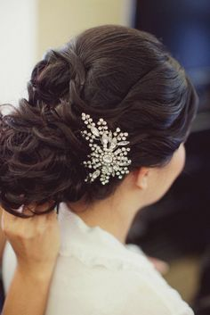 36 Beautiful Wedding Hairstyles with Amazing Accessories. http://www.modwedding.com/2014/02/15/36-beautiful-wedding-hairstyles-with-amazing-accessories/ #wedding #weddings #hair #hairstyles #fashion