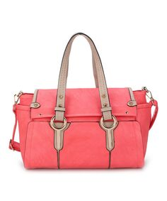 Take+a+look+at+the+Amore+Coral+Nila+Satchel+on+#zulily+today!