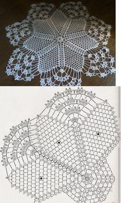 Free crochet doily pattern...♥ Deniz ♥