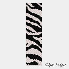 Zebra Pattern  Bead Pattern for peyote bracelet by DebgerDesigns