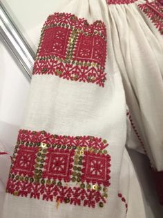 Detail - sub-altita. Romanian Blouse - ie. Folk Embroidery, Textiles, Costumes, Traditional, Detail, Blouse, Bass Drum, Embroidery, Dress Up Clothes