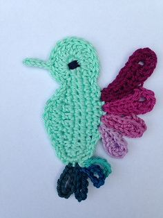 FREE CROCHET PATTERN Hummingbird applique I will have to make at least one of these, my favorite bird! <3