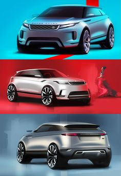 New Range Rover Evoque: Design Sketches - Modern Car Design Sketch, Car Sketch, New Range Rover Evoque, Automobile, Tata Motors, Ad Car, Car Drawings, Car In The World, Transportation Design