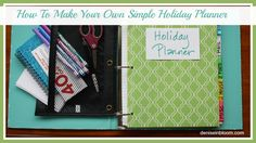 How To Make A Simple Holiday Planner in Minutes - Denise In Bloom Plaid Christmas, Winter Christmas, All Things Christmas, Christmas Time, Christmas Crafts, Christmas Decorations, Christmas Ideas, Diy Organization, Organizing Tips