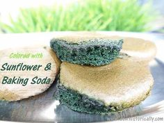 Naturally Green Cupcakes - Colored With Sunflower Seeds!