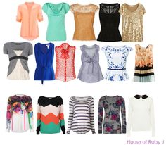 tops for rectangular body type - Polyvore